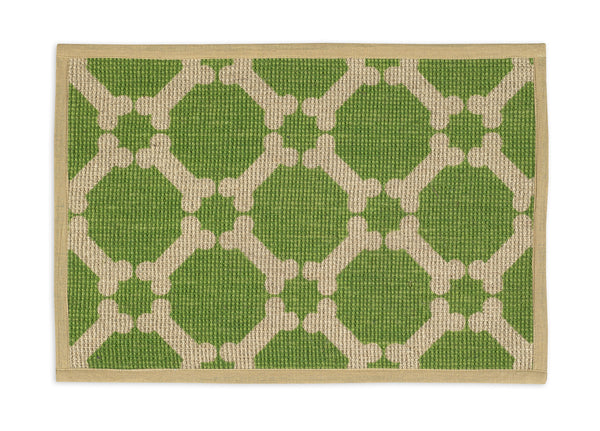 Buddy's Line Green Bones Jute Dog Placemat