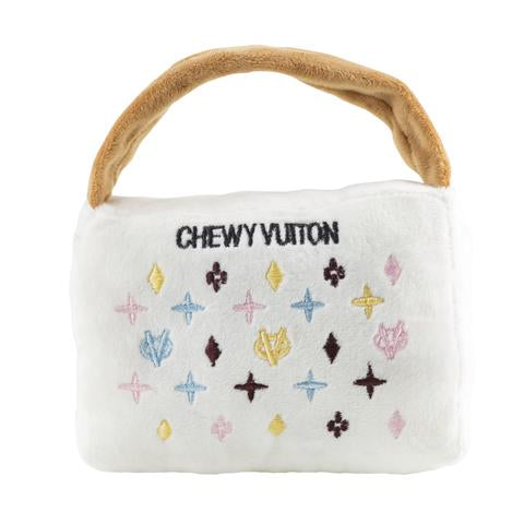 Haute Diggity Dog White Chewy Vuiton Purse Toy