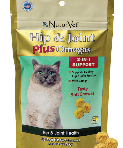 Holistic Cat Naturvet Hip & Joint Cat Chews 50 Ct