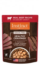 Instinct® Healthy Cravings® Real Beef Recipe 3oz Pouches NEW!