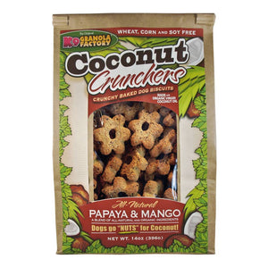 Holistic Pet Treats K9 Granola Factory Coconut Crunchers Papaya & Mango 14oz