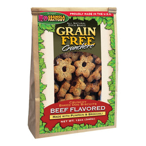 Holistic Pet Treats K9 Granola Factory Grain Free Crunchers Dried Beef with Pumpkin & Broccoli 12oz