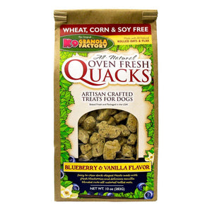 Holistic Pet Treats K9 Granola Factory Quacks Blueberry and Vanilla 10oz
