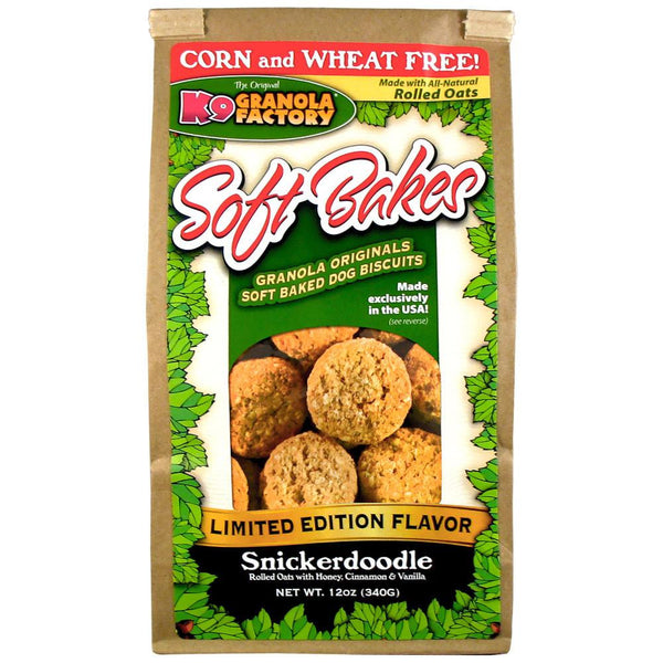 Holistic Pet Treats K9 Granola Factory Soft Bakes Limited Edition Snickerdoodle