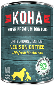 Holistic Dog Koha Limited Ingredient Diet Venison with Blueberries Wet Dog Food 13 oz can