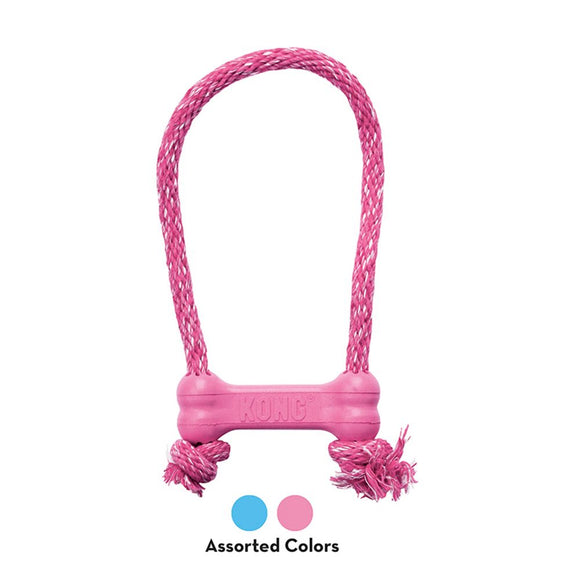 Kong Puppy Bone with Rope XS Pink