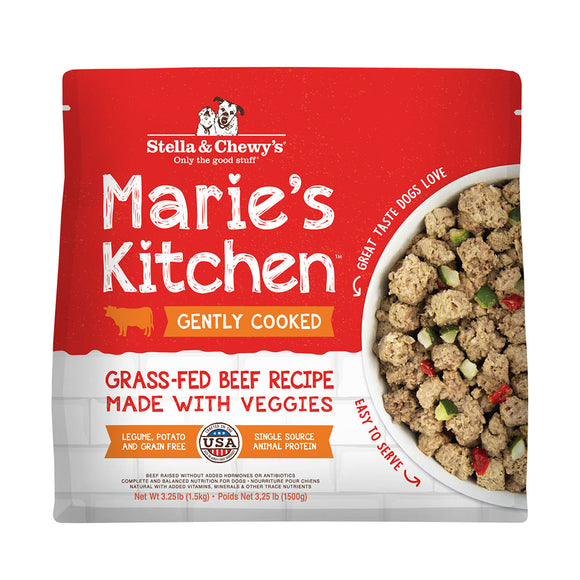 Stella and Chewy's Marie's Kitchen Frozen Cooked Food Beef 3.25lb-Local Delivery only