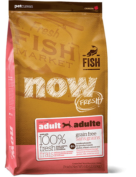 Holistic Dog Food NOW FRESH™ Grain Free FISH Recipe 25lb