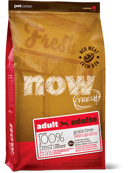 Holistic Dog Food NOW FRESH™ Grain Free RED MEAT Recipe 25lb