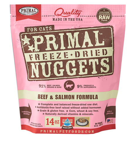 Holistic Freeze Dried Cat Primal Beef/Salmon 14oz Feline