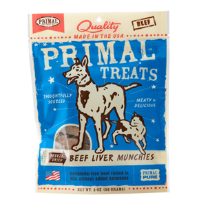 Holistic Freeze Dried Cat and  Dog Treats Primal Beef Liver Munchies