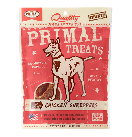 Holistic Freeze Dried Dog Treats Primal Dry Roasted Chicken Shredders