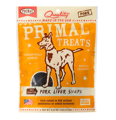 Holistic Freeze Dried Dog Treats Primal Dry Roasted Pork Liver Snaps