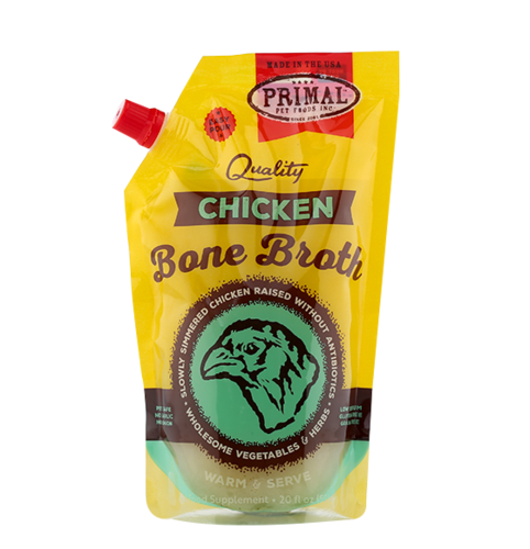 Primal Chicken Bone Broth for dogs and cats  20oz LOCAL DELIVERY ONLY!