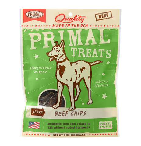Holistic Freeze Dried Dog Treats Primal Jerky Beef Chips