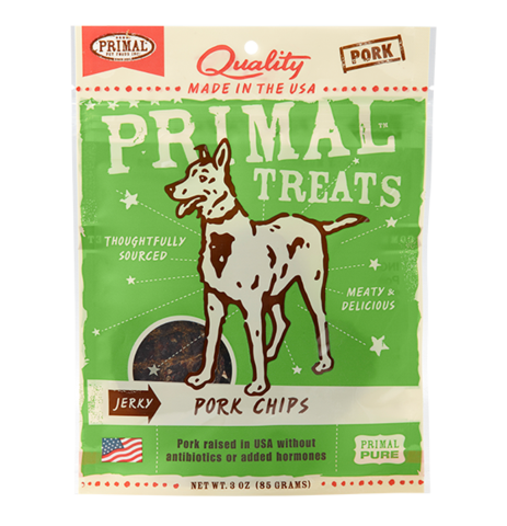 Holistic Freeze Dried Dog Treats Primal Jerky Pork Chips