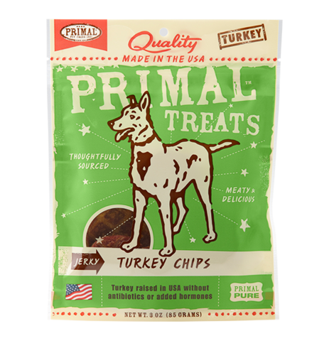 Holistic Freeze Dried Dog Treats Primal Jerky Turkey Chips