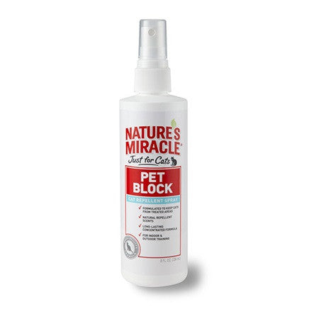 Holistic Pet Nature's Miracle Pet Block Repellent Spray - Just for Cats 8 oz