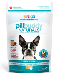 Holistic Pet Complete Natural Nutrition Pill Buddy Naturals Peanut Butter and Apple 30 ct