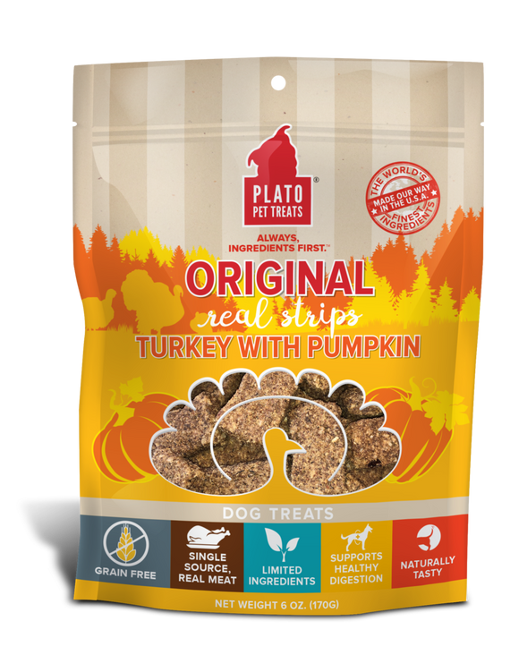 Holistic Dog Treats Plato EOS Turkey With Pumpkin Real Strips