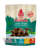 Plato Real Strips Duck Meat Bar Dog Treats 6oz