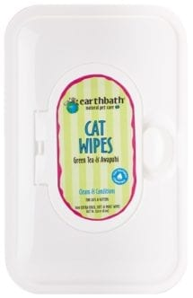Earthbath® Green Tea and AwapuhiWipes for Cats 100ct