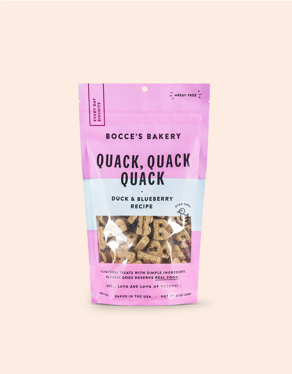 Holistic Dog Treats Bocce's Quack Quack Quack Biscuits 12 oz