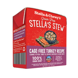 Stella and Chewy's Cage-Free Turkey Bone Broth Stews Dog Food-11 oz