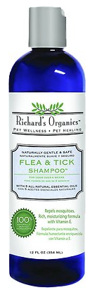 Holistic Pet Richard's Organics Flea & Tick Shampoo 12 oz
