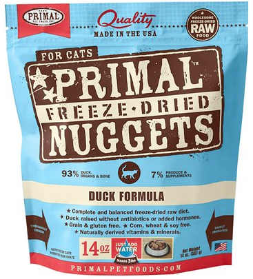 Holistic Freeze Dried Cat Primal Duck 14oz