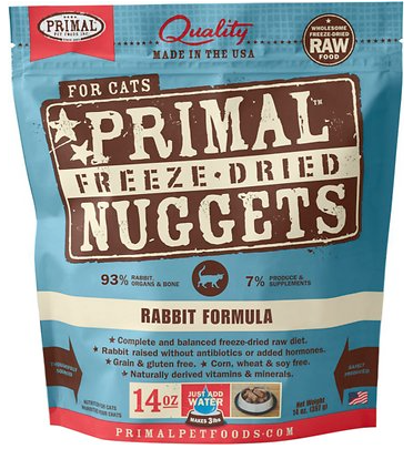Holistic Freeze Dried Cat Primal Rabbit 14 oz