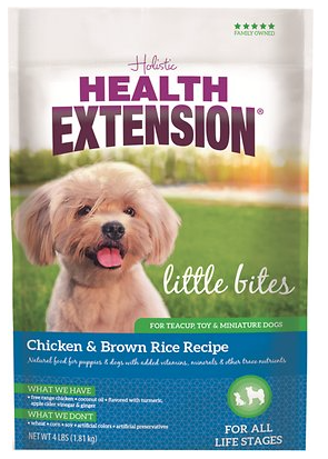 Holistic Dog Health Extension Little Bites Dry Dog Food 4 Lbs