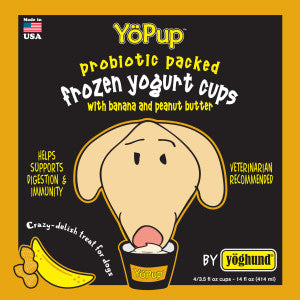 Holistic Dog Yoghund YoPup Frozen Yogurt Cups Banana/Peanut Butter (Local Delivery Only)