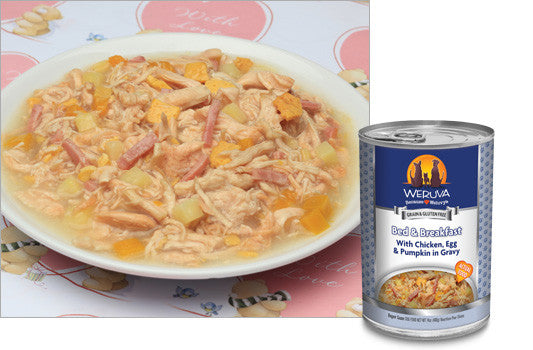 Weruva Bed and Breakfast – With Chicken, Egg, Pumpkin and Ham in Gravy 14 oz Canine