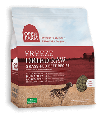 OPEN FARM FREEZE DRIED GRASS FED BEEF NIBBLES 13OZ