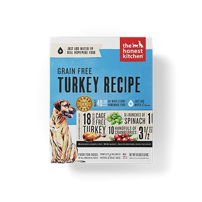 Holistic Dog Food Honest Kitchen Grain Free Turkey Embark ® 10lb