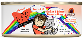 Weruva BFF Crazy 4 U! Chicken & Salmon Dinner in Gravy 2.8oz