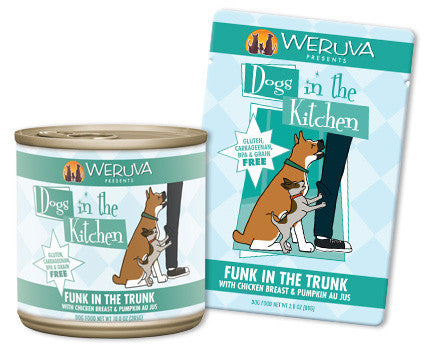 Weruva Dogs In The Kitchen Funk in the Trunk – With Chicken & Pumpkin Au Jus 2.8 oz