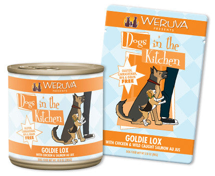 Weruva Dogs In The Kitchen Goldie Lox – With Chicken & Wild Caught Salmon Au Jus 2.8 oz