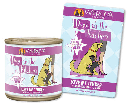 Weruva Dogs In The Kitchen Love Me Tender Pouches - with Chicken Breast Au Jus 2.8 oz