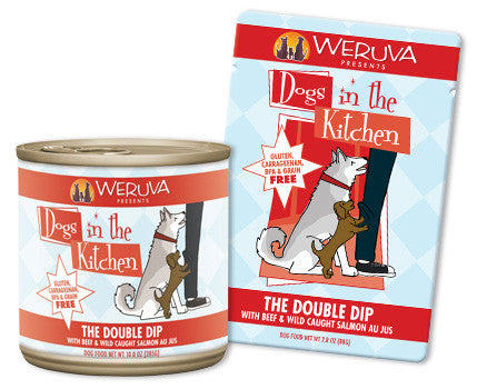 Weruva Dogs In The Kitchen The Double Dip – With Beef & Wild Caught Salmon Au Jus 2.8 oz