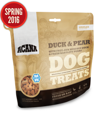 Holistic Dog Treats Acana Singles Duck and Pear 3.25oz Treats