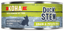 Holistic Cat Koha Grain Free Duck Stew Wet Cat Food 5.5 oz can