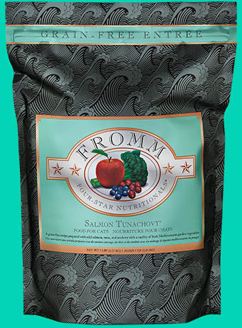 Holistic Cat Food Fromm Salmon Tunachovy Four-Star Grain Free Dry 5lb