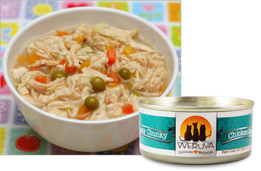 Weruva Funky Chunky Chicken Soup – Chicken Soup With Pumpkin cat 5.5oz