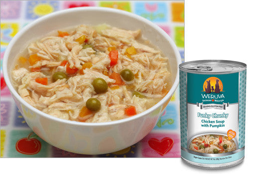 Weruva Funky Chunky Chicken Soup – Chicken Soup With Pumpkin 14 oz