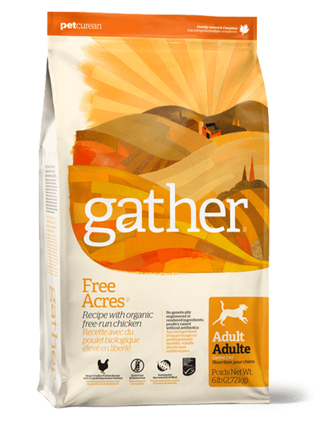 Holistic Pet Food Petcurean Gather FREE ACRES Organic Free-Run Chicken 16lb