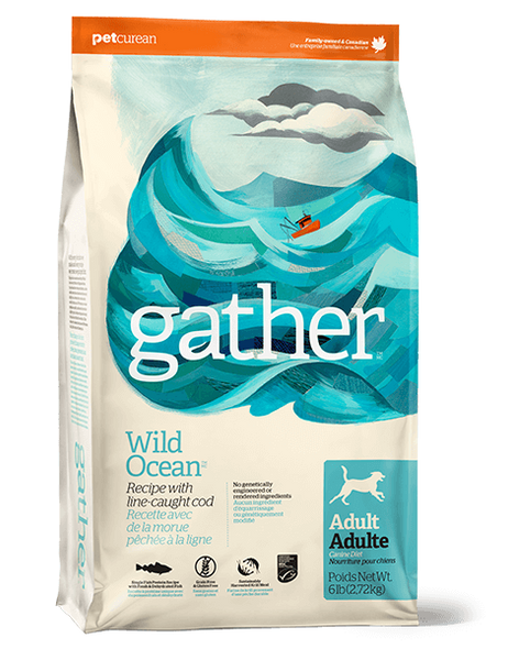 Holistic Dog Food Petcurean Gather Wild Ocean 6lbs