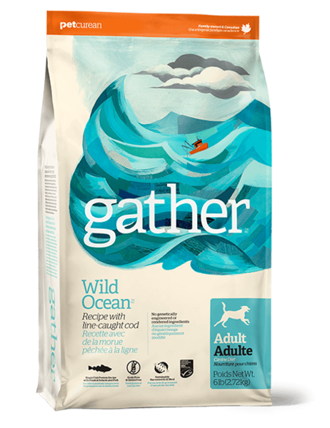 Holistic Dog Food Petcurean Gather Wild Ocean 16lbs