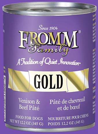 Holistic Dog Food Fromm Gold Venison and Beef Pate Can 12.2 oz